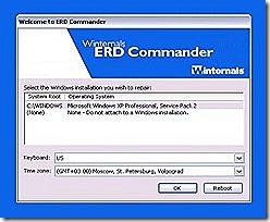 Создание загрузочной флешка с ERD Commander