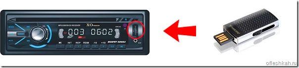 Подключение USB флешки к автомагнитоле через USB-порт