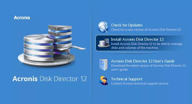 Загрузочная флешка Аcronis Disk Director